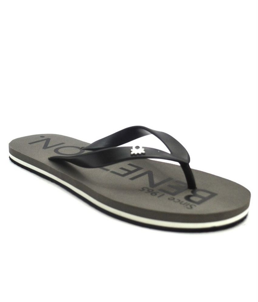 e9489c1b7 United Colors Of Benetton Gray Slippers Price in India- Buy United Colors  Of Benetton Gray Slippers Online at Snapdeal