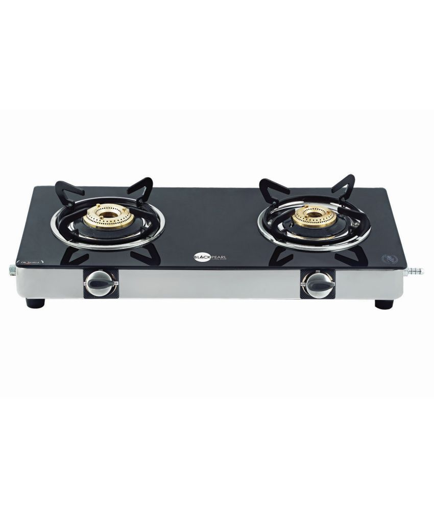 Gas Cooktop Glass Black Pearl Black Pearl 2 Burner Glass Manual Gas Stove Price In