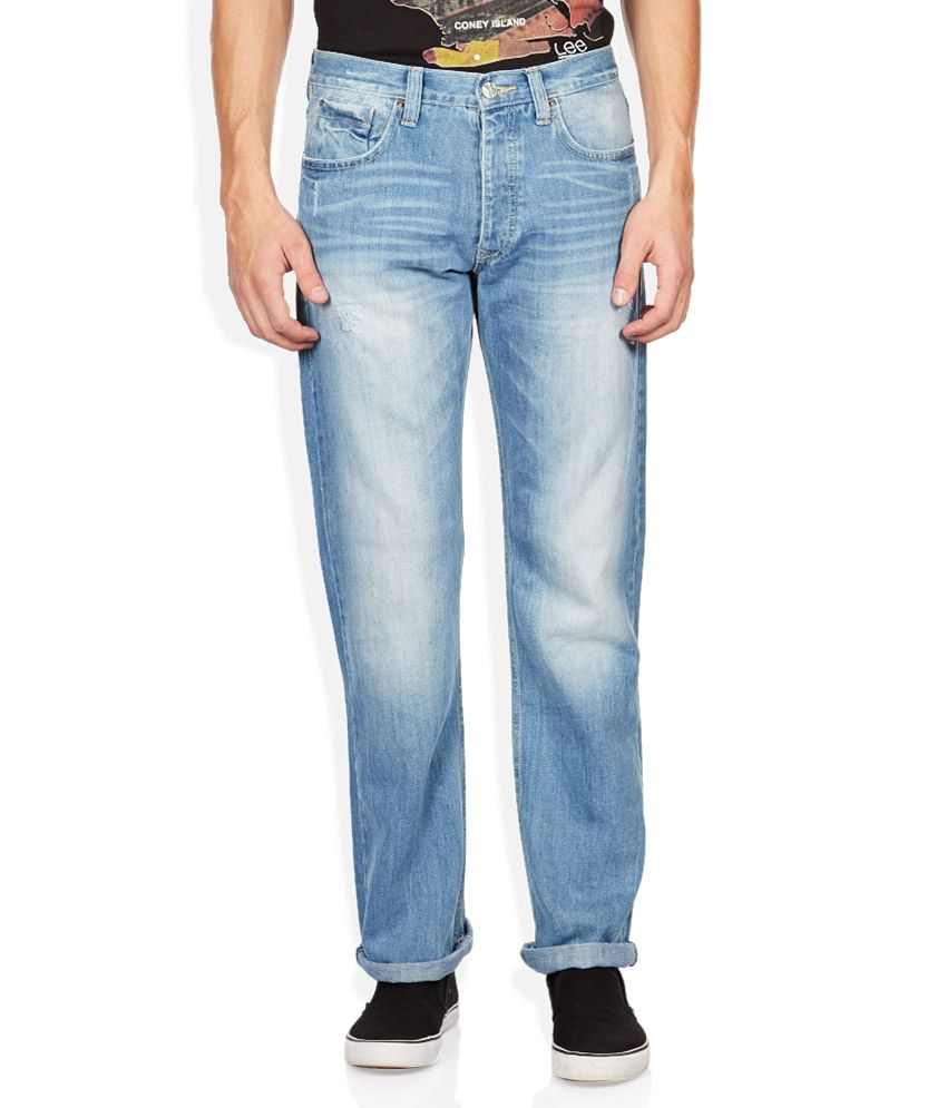 Lee Blue Light Wash Relaxed Fit Jeans