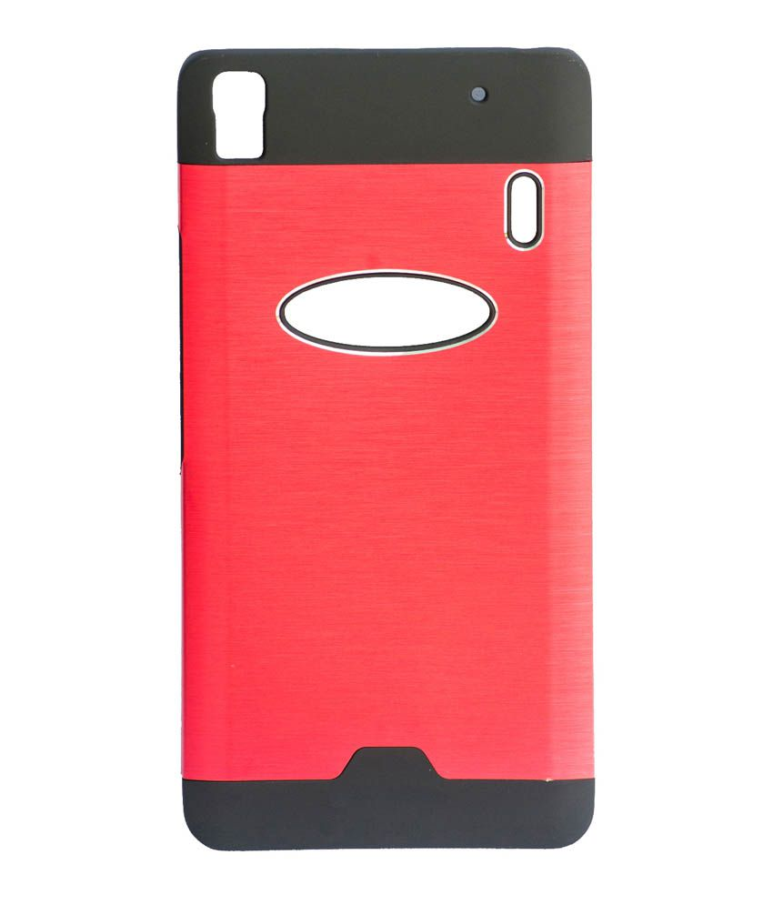 100% authentic 00cb6 c2063 Arra Fashion Motomo Lenovo A7000 And K3 Note Best Selling Hard Back Cover  Case Metal Finish Red