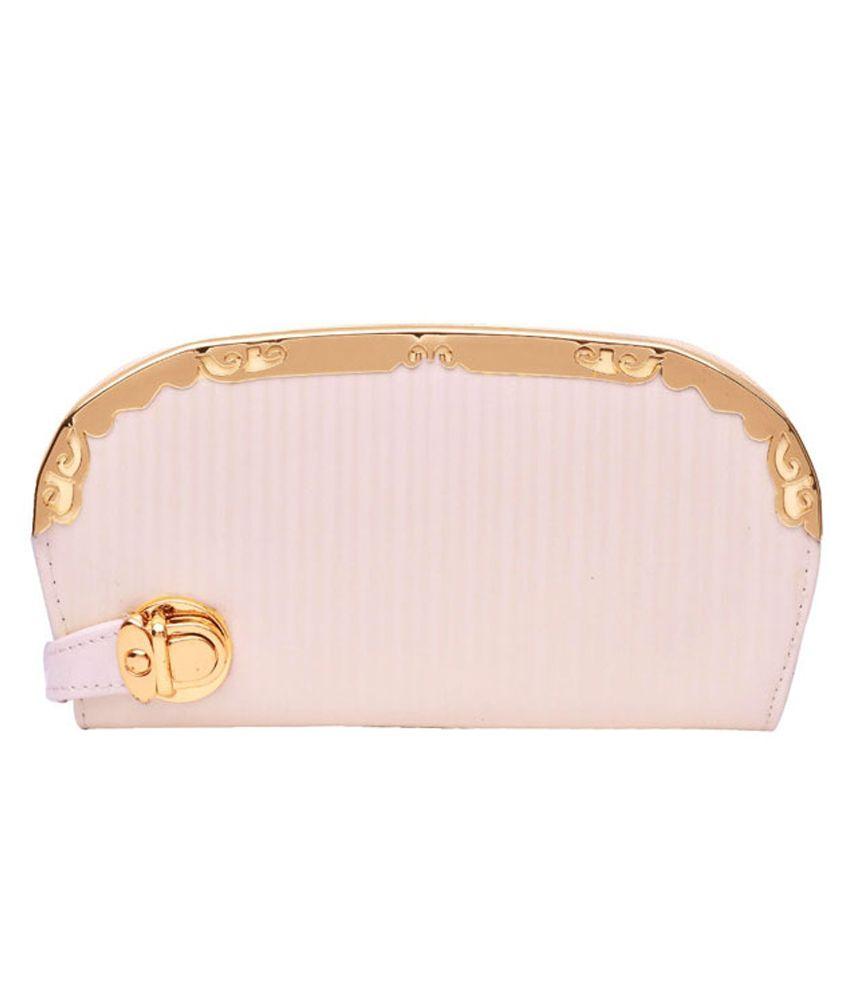 Hawai Non Leather White Women Regular Wallet