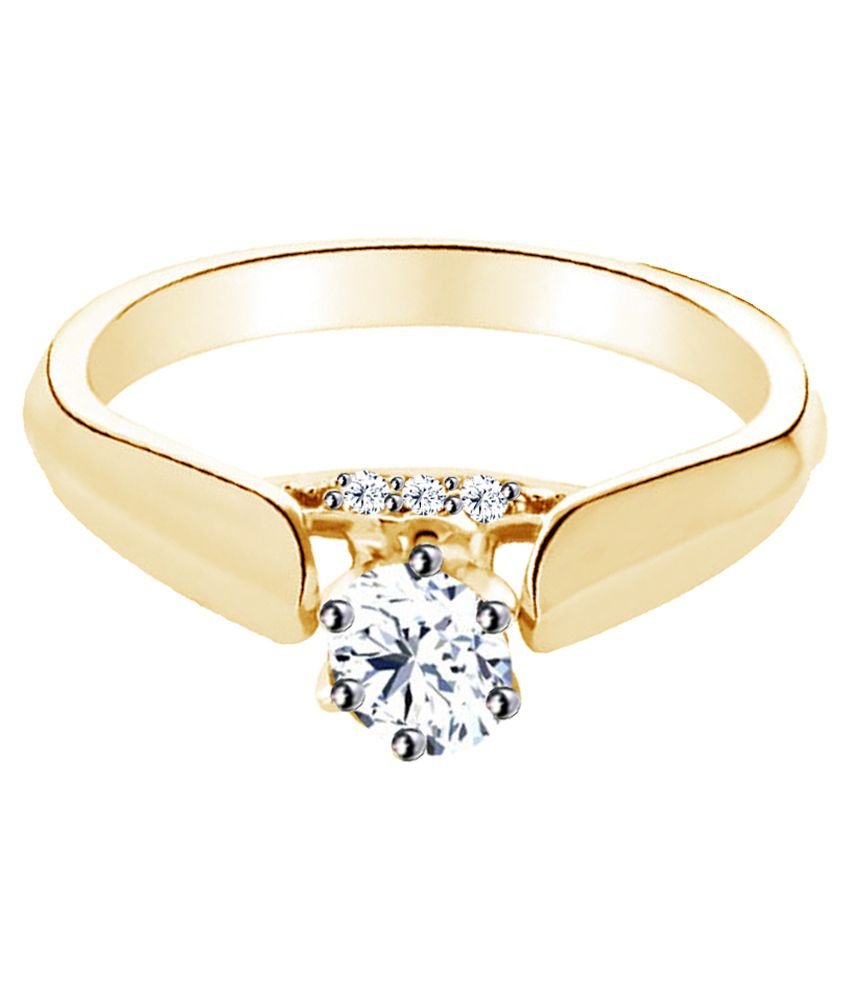 Jacknjewel 18kt Yellow Gold Plated Silver Ring
