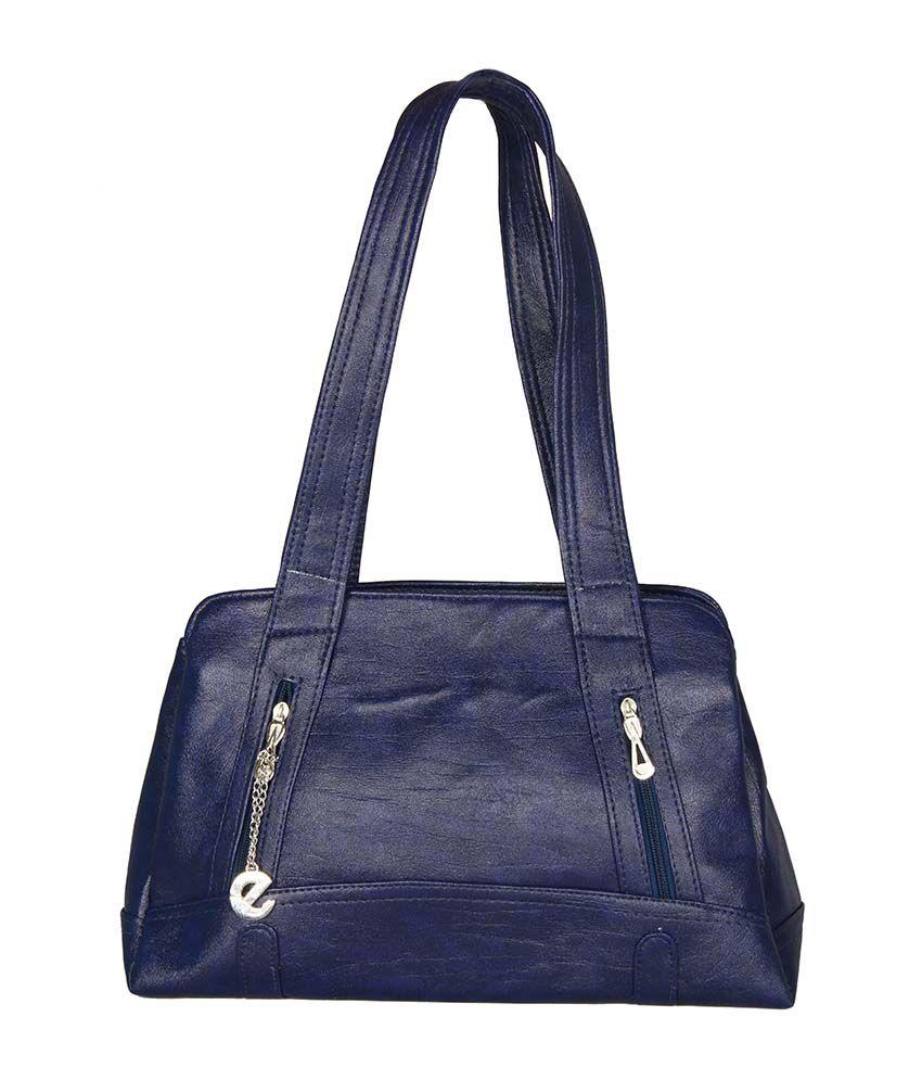 Merci Blue Shoulder Bag