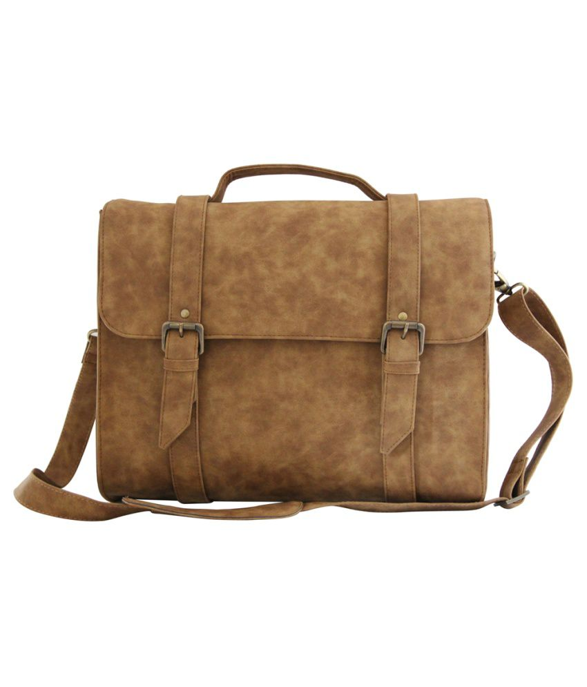 Mohawk Tan P.U. Laptop Bag
