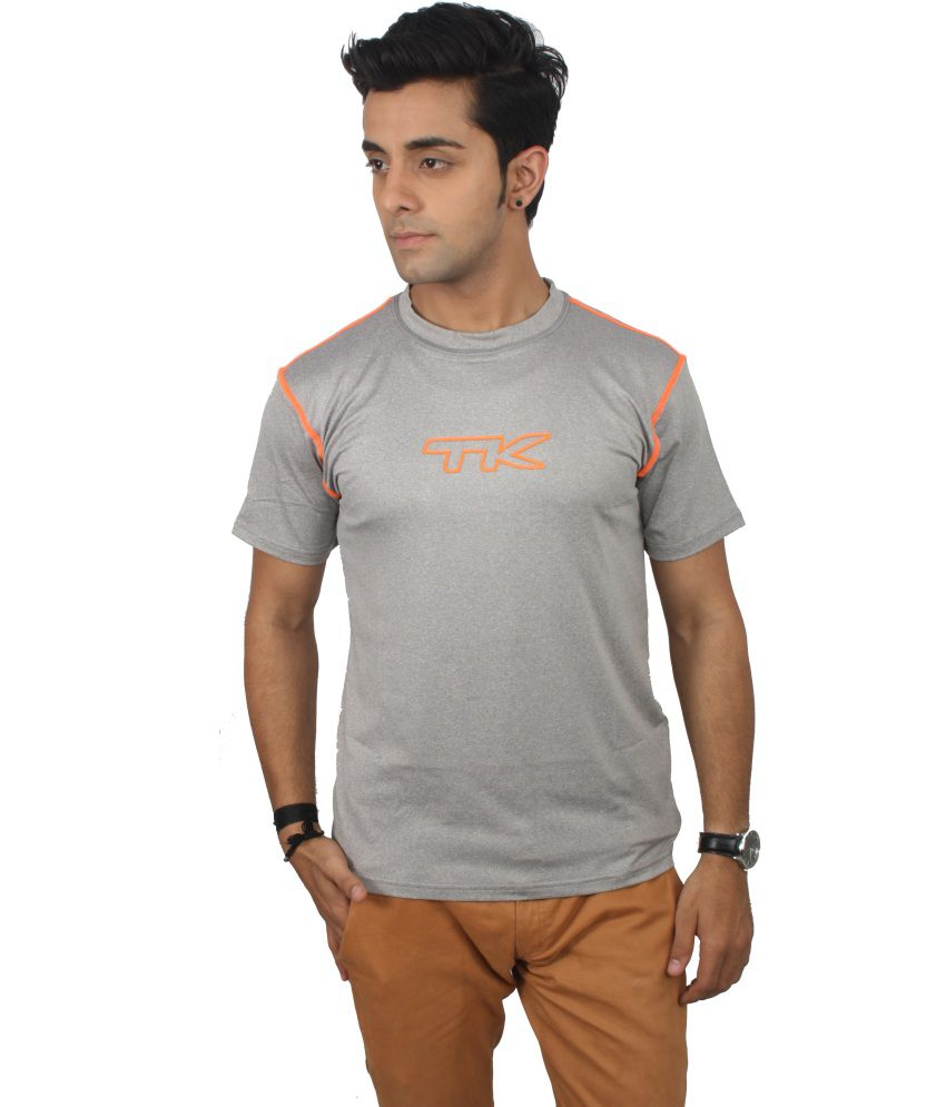 Tk Gray Polyester T-shirt