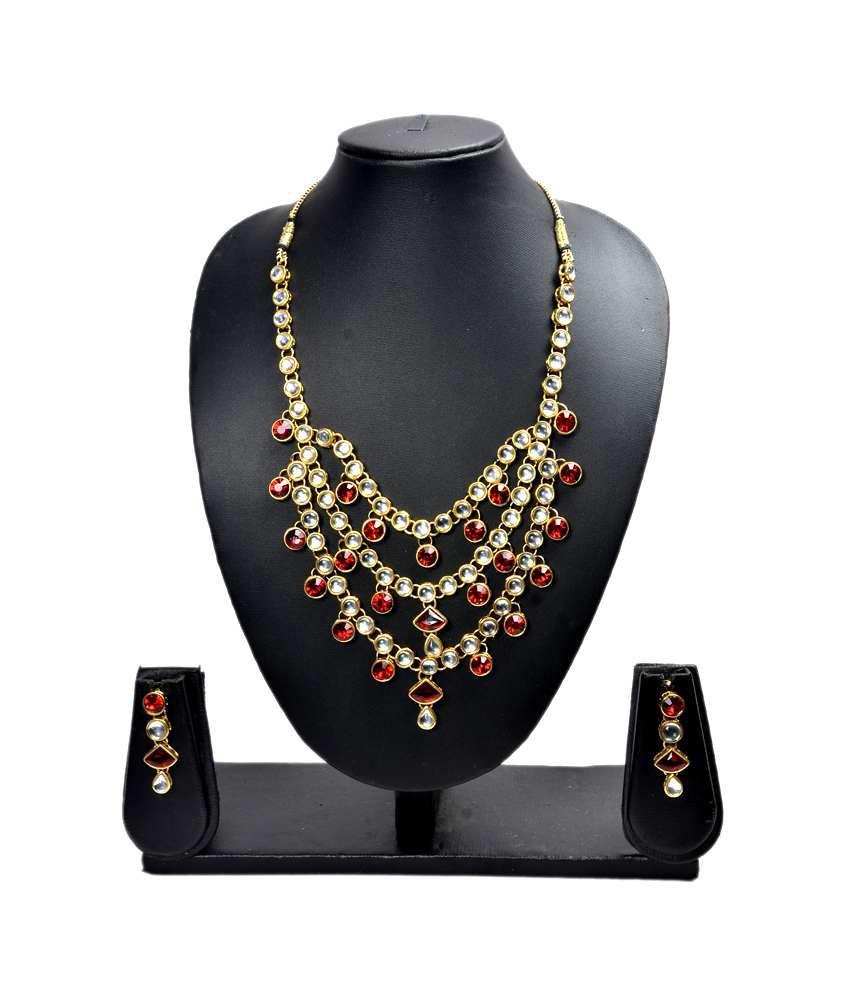 Akshada Creation Necklace Set - Multi
