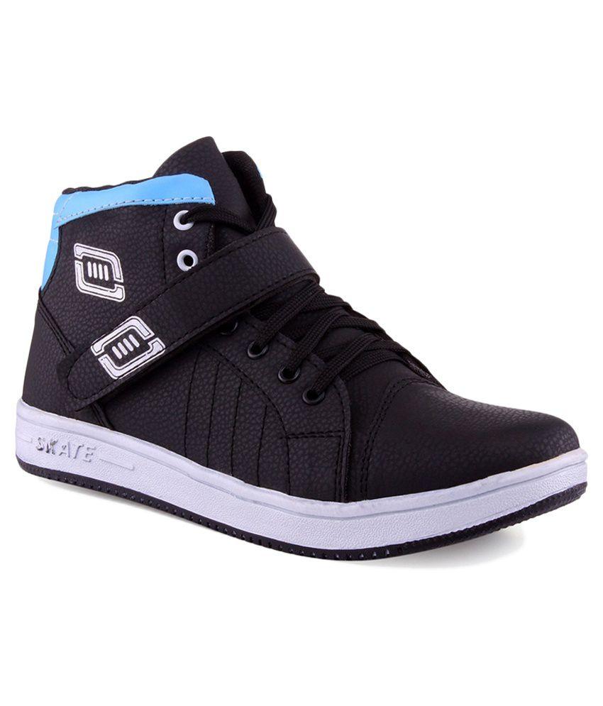Aadi Black Canvas Casual Shoes - Buy