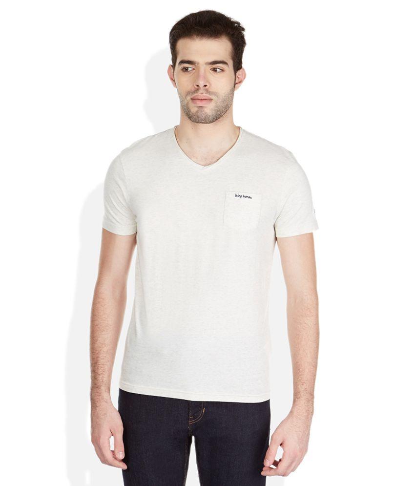 Being Human Gray V-Neck T-Shirt