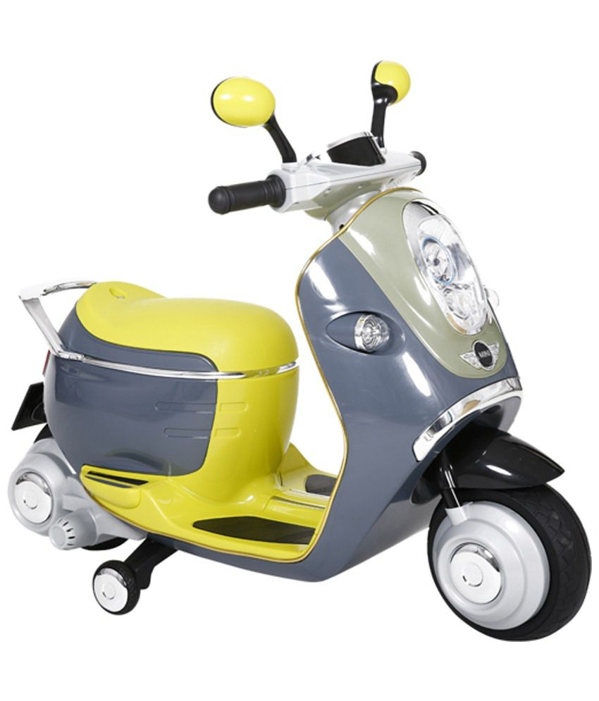 toyhouse bmw mini scooter e concept rechargeable battery powered ride on bike grey green buy. Black Bedroom Furniture Sets. Home Design Ideas