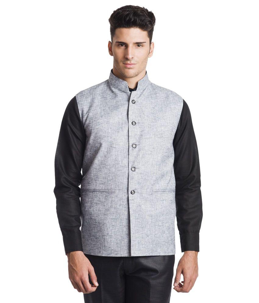 Wintage Gray Linen Waistcoats