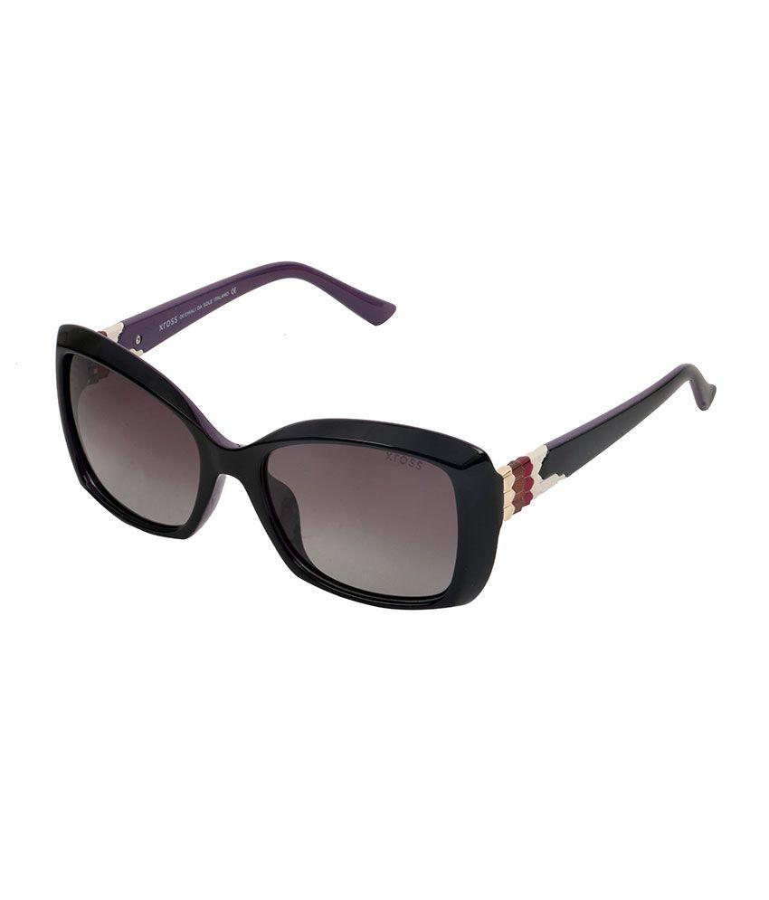 Xross Brown Cat Eye Sunglasses ( x-009-c43-56 )