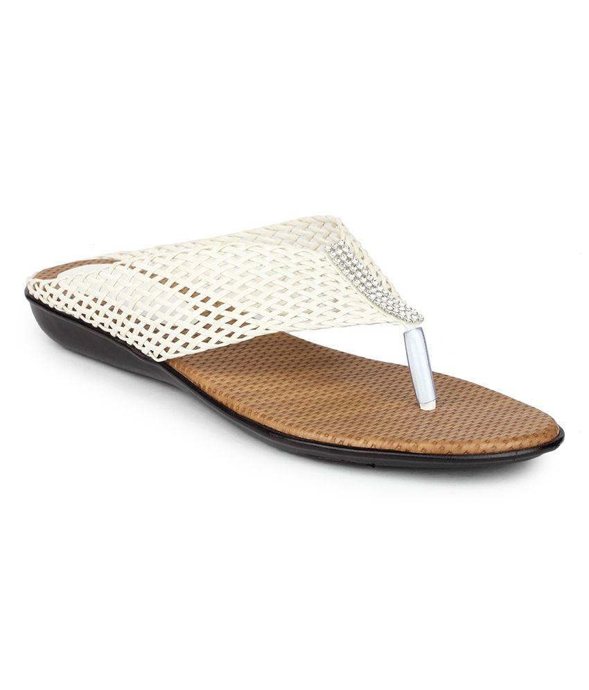 DJH White Flat Slip-On