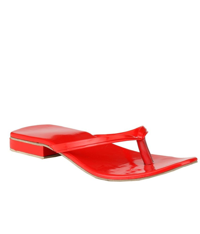 AIS Red Patent Flat Slip-ons