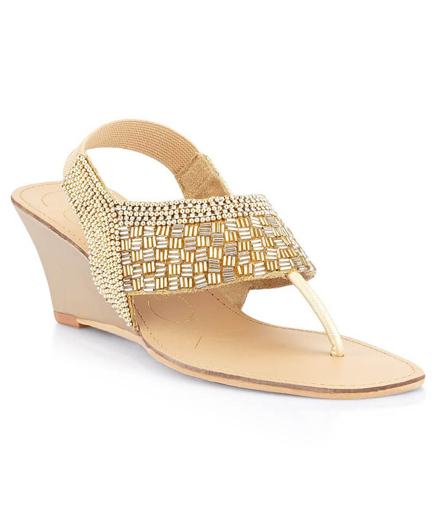 3f976c01d572b7 Catwalk Gold Wedge Heeled Slip-Ons Price in India- Buy Catwalk Gold ...