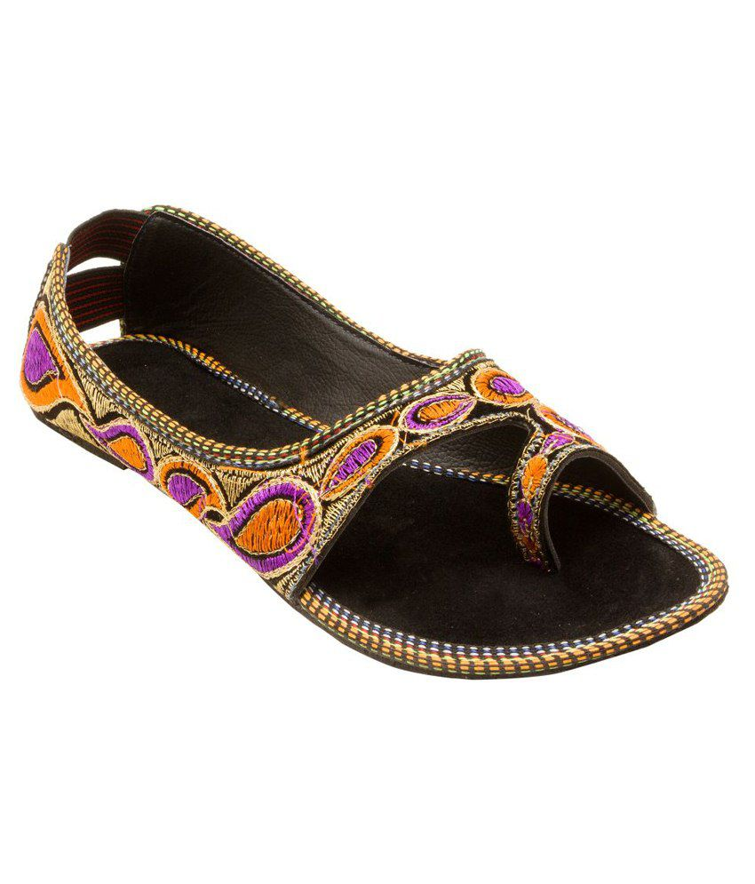 E-Handicrafts Multicolour Flat Sandals