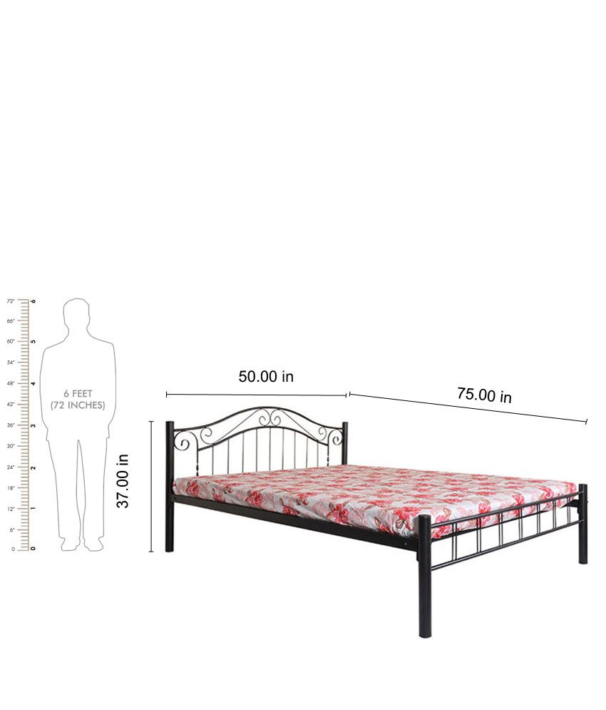 diamond queen size metal bed in black color buy diamond queen size