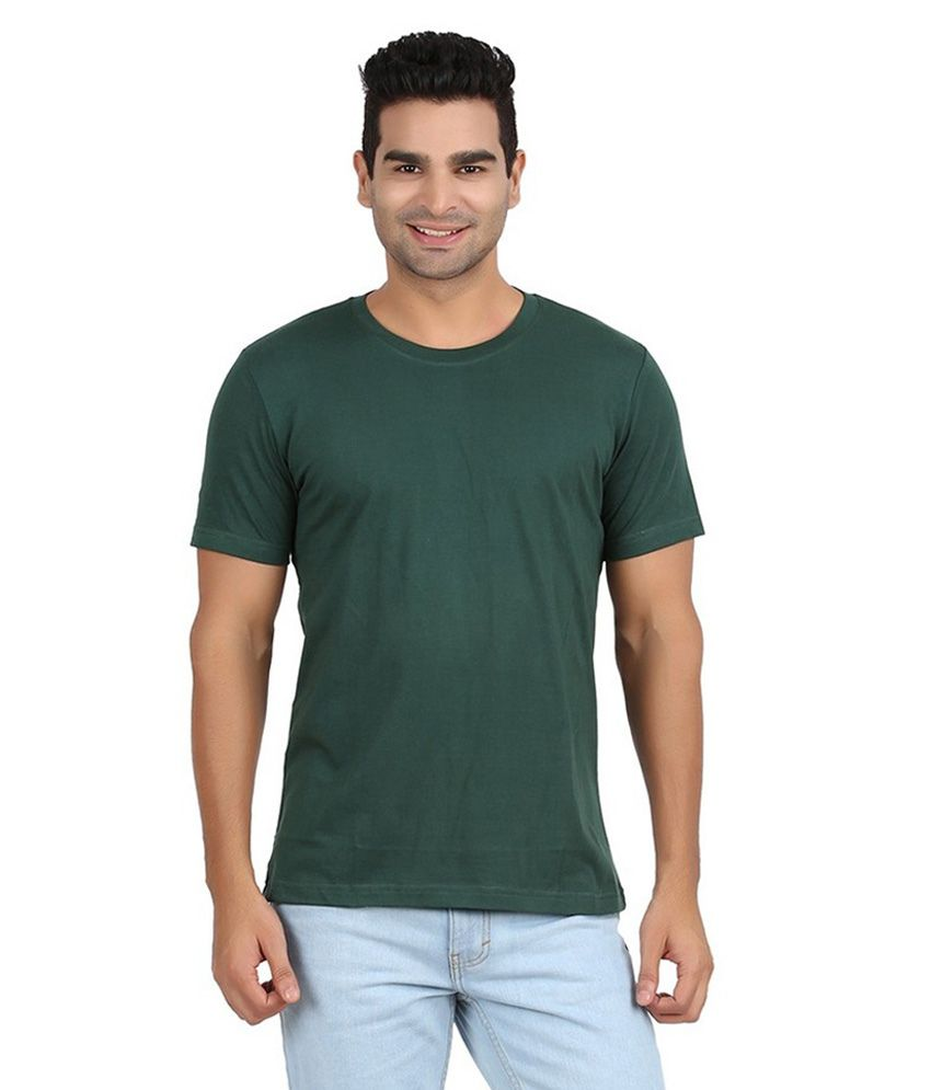 Itan Tech India Green Cotton Blend T-shirt
