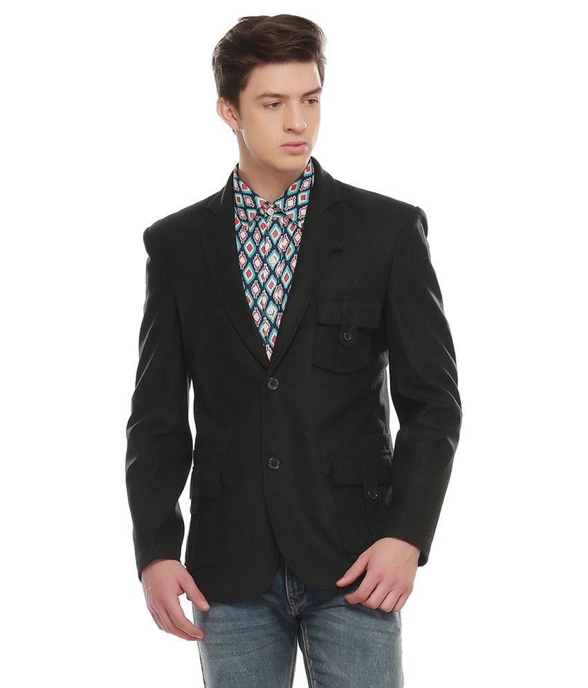 Jogur Navy Polyester Blazer