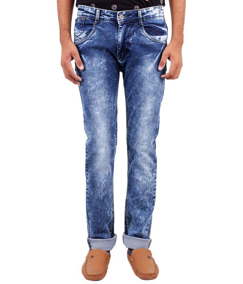 La Marino Classic Blue Skinny Fit Jeans for Men