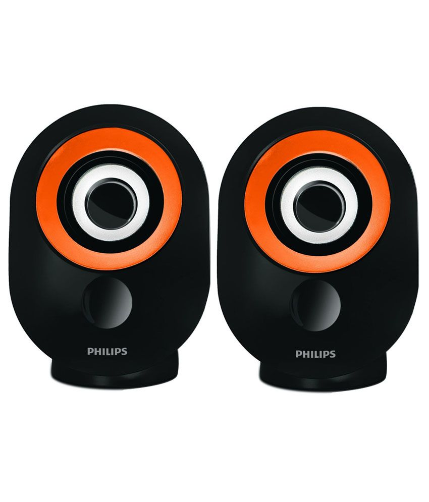 Philips-Usb-Speakers-2-Computer-Speakers-Orange