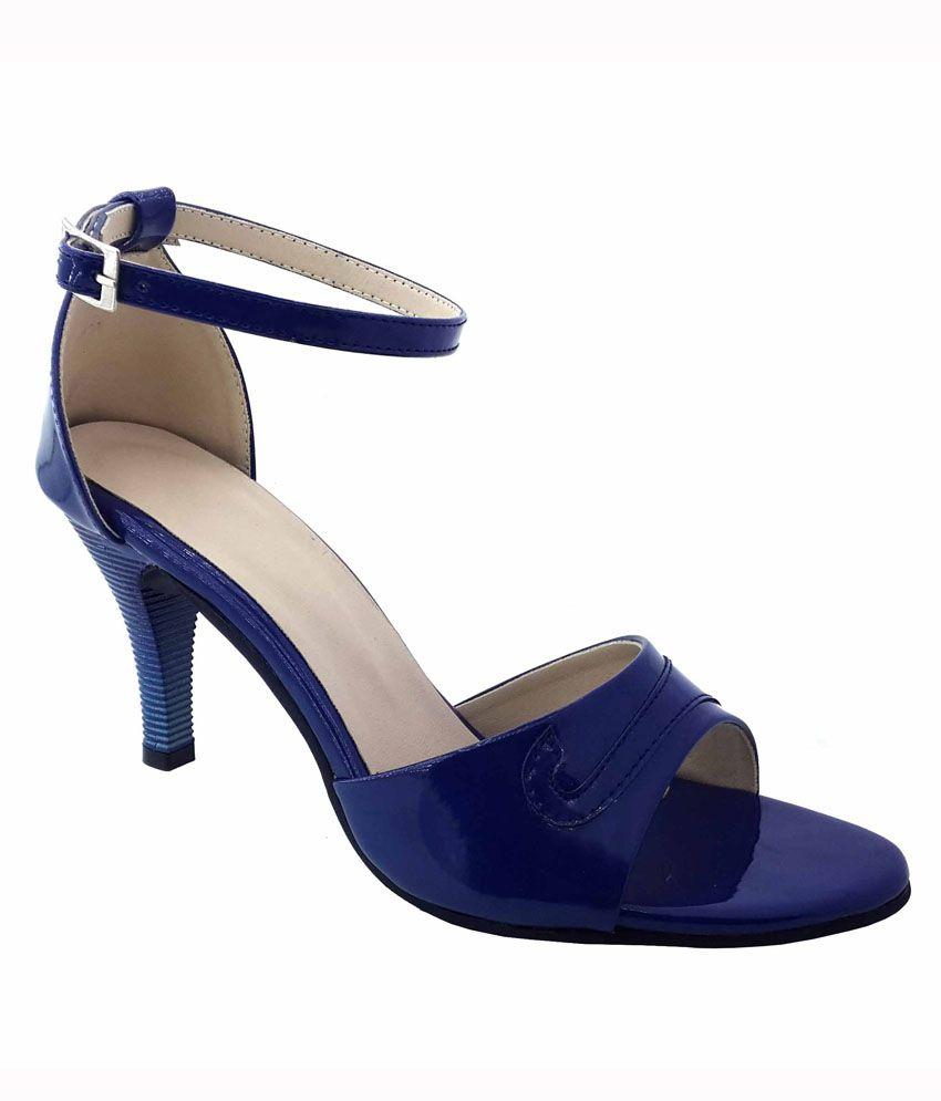 Plutos Blue Heeled Sandal
