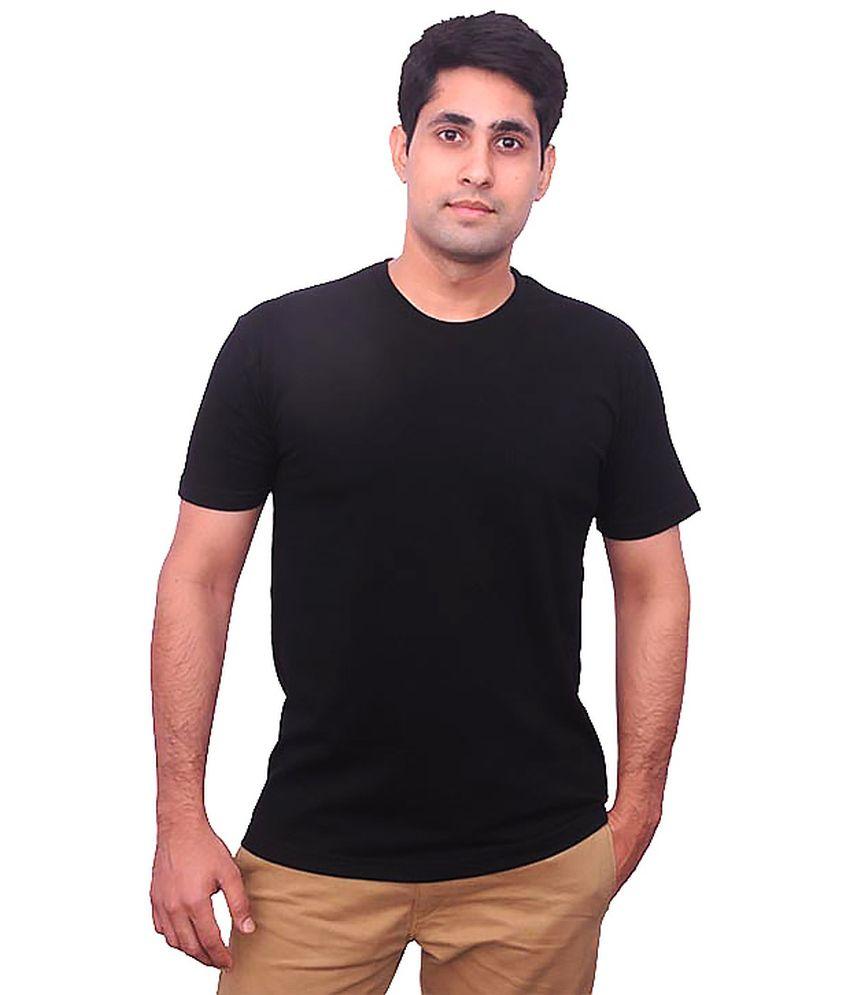 Priint Factory Black Cotton T Shirt