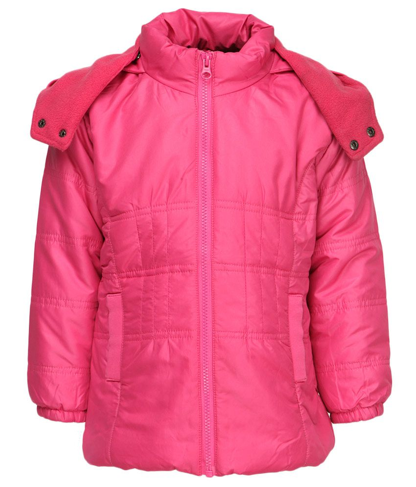612 League Pink Polyester Full Sleeves Regular Jacket