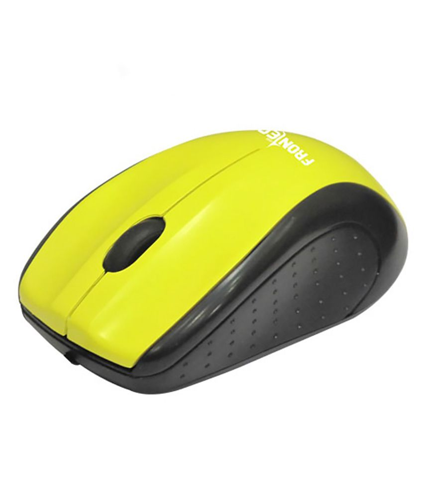 Frontech JIL-1703BY USB Wired Optical Mouse (Yellow)