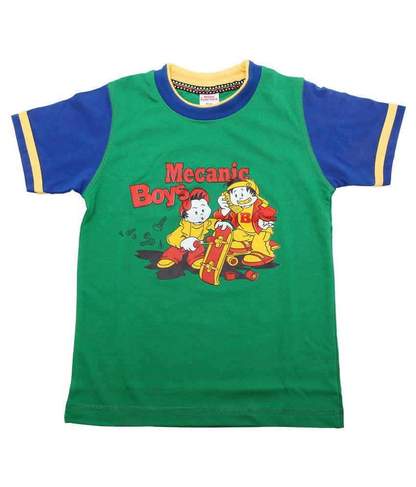 Hillman Green Cotton Graphics T-shirt