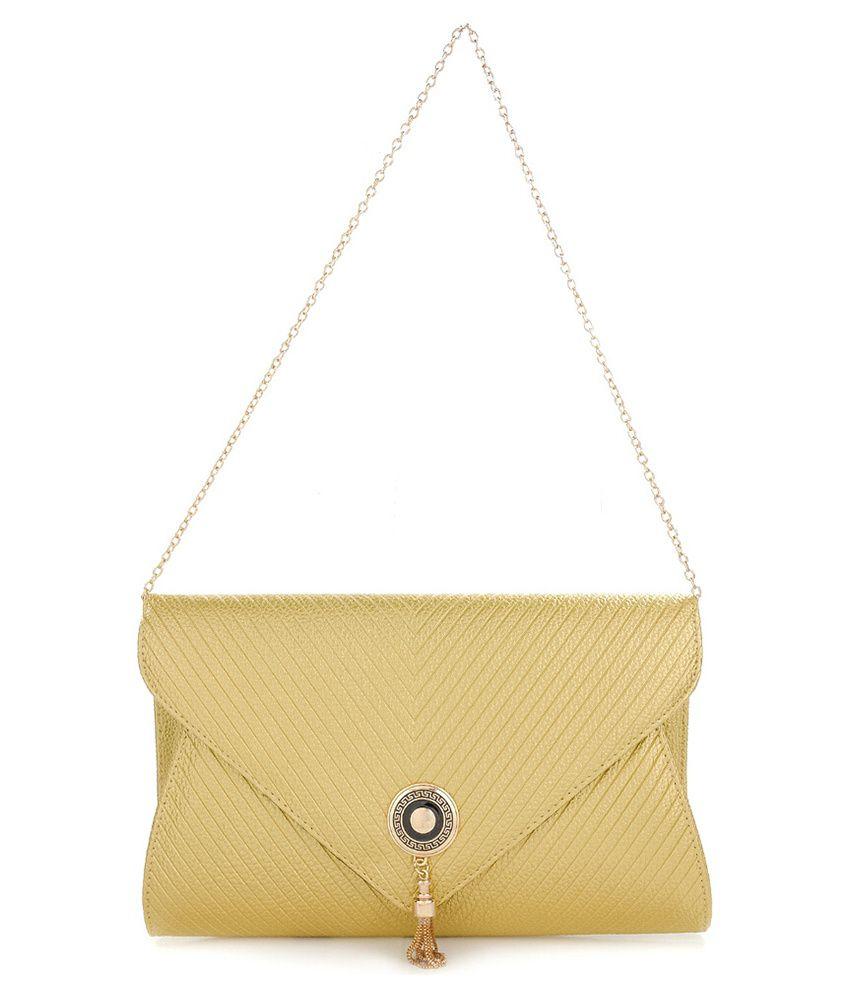 Iva Gold Sling Bag - Buy Iva Gold Sling Bag Online at Best Prices ...