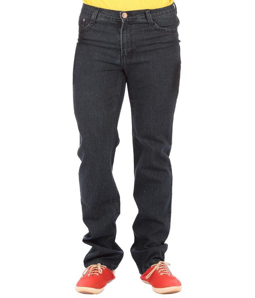 Ojjo Black Regular Fit Jeans