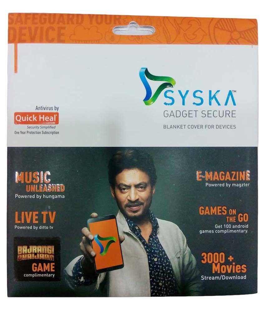 Syska Secure Gadget Plan 2399 (handset Coverage Rs 20001-80000) Handset/tablet 20001-80000