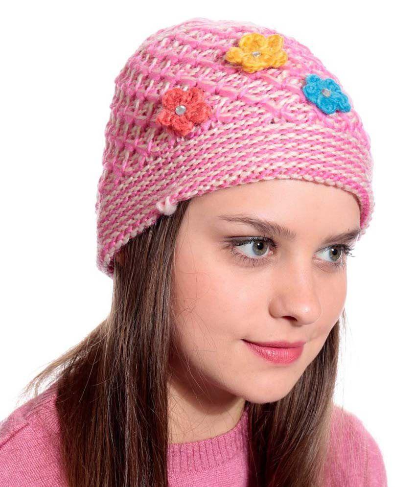 94 West Pink Woollen Cap