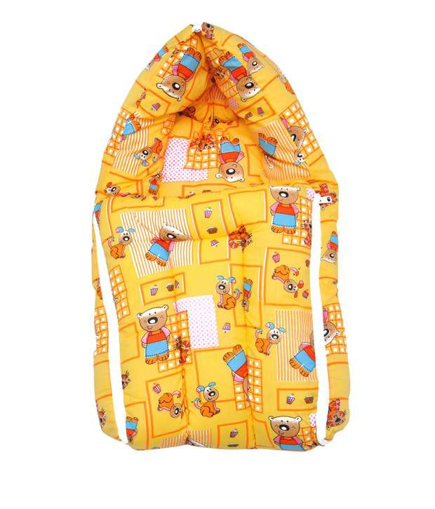 Ocean Tex Multicolour Cotton Made Baby Carrying Bag With Recron Filling For New Born Babies