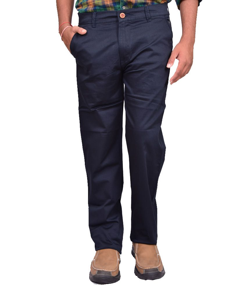 British Terminal Blue Comfort Casual Trouser