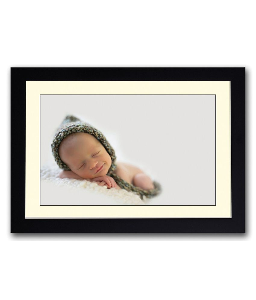 Artifa Matte Cute Expression Baby Picture Painting With Wood Frame