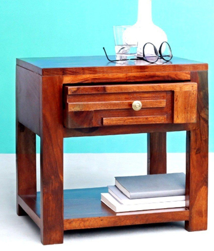 Buy 1 Britz Sheesham Wood Side Table with Storage - Get 1 Free