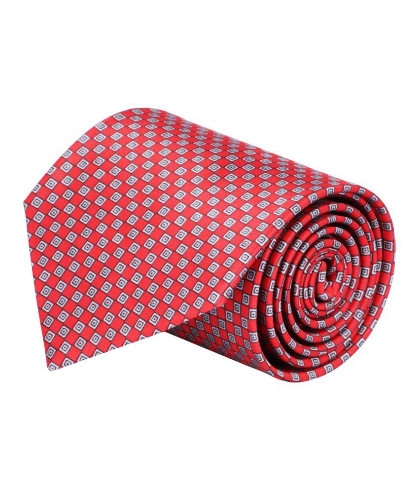 CorpWed Red Broad Tie