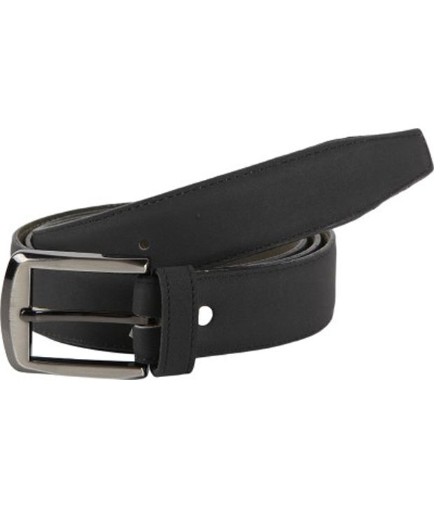 Rigado Black Leather Casual Belt