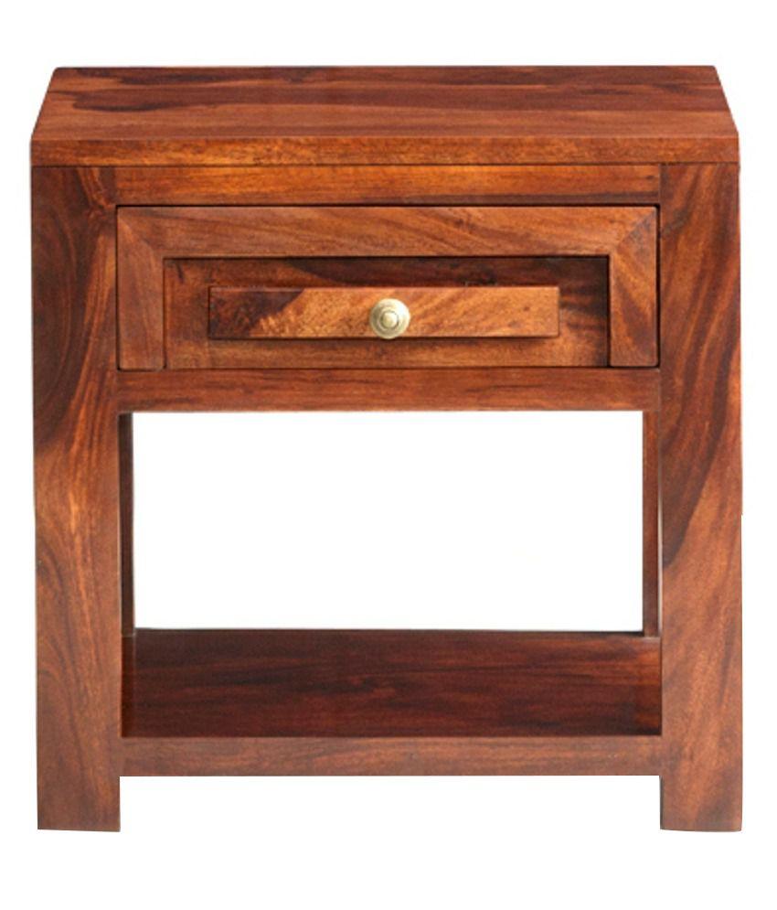 Buy 1 Senorita Sheesham Wood Side Table with Storage - Get 1 Free