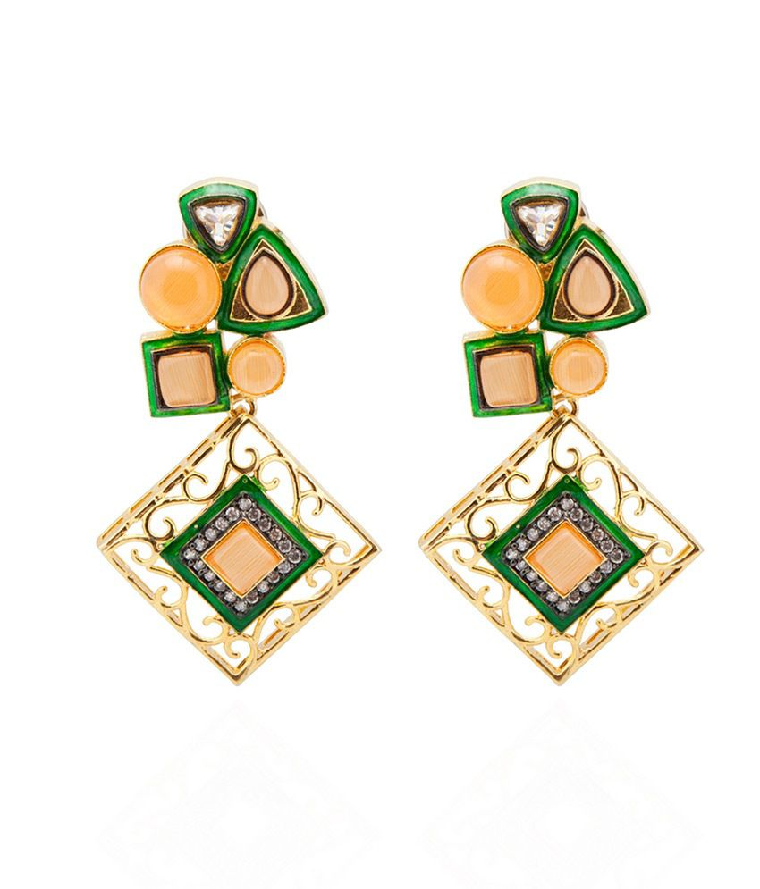 The Indus Connection Multicolour Designer Hanging Earrings