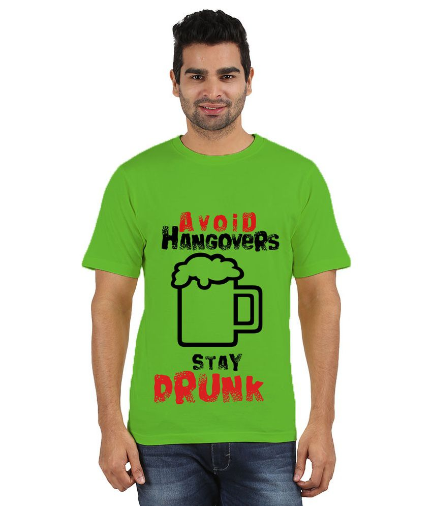 Doozy Shopping Green Cotton T-Shirt