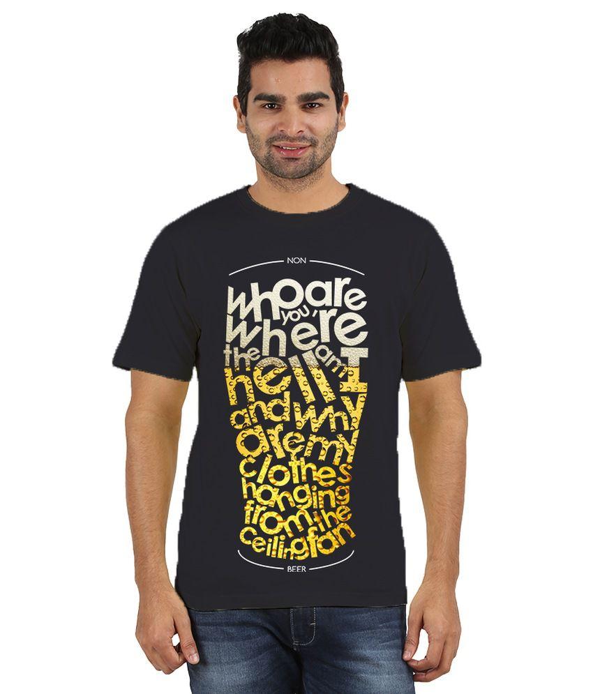 Doozy Shopping Navy Cotton T-Shirt