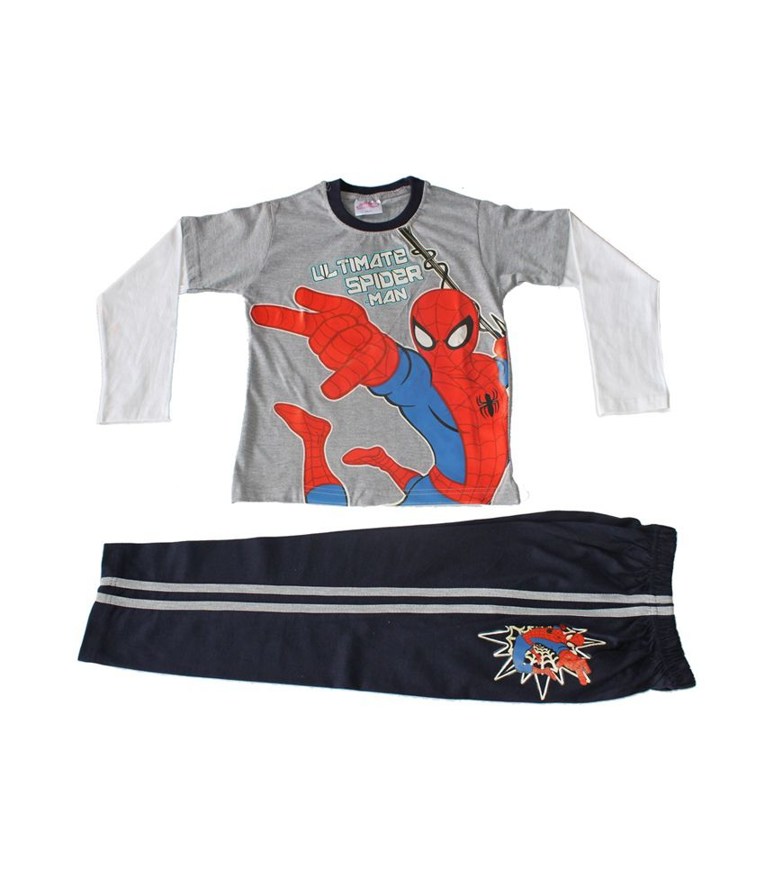 Spiderman Grey   Navy Blue Boys Night Suit - Buy Spiderman Grey   Navy Blue Boys  Night Suit Online at Low Price - Snapdeal f623edd67