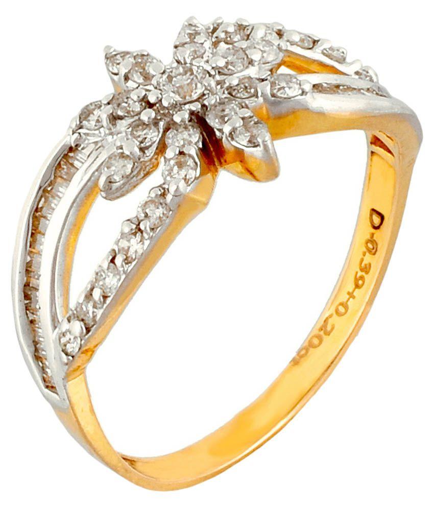 Jain Jewellers Hallmarked 18kt Stunning Diamond Gold Ring
