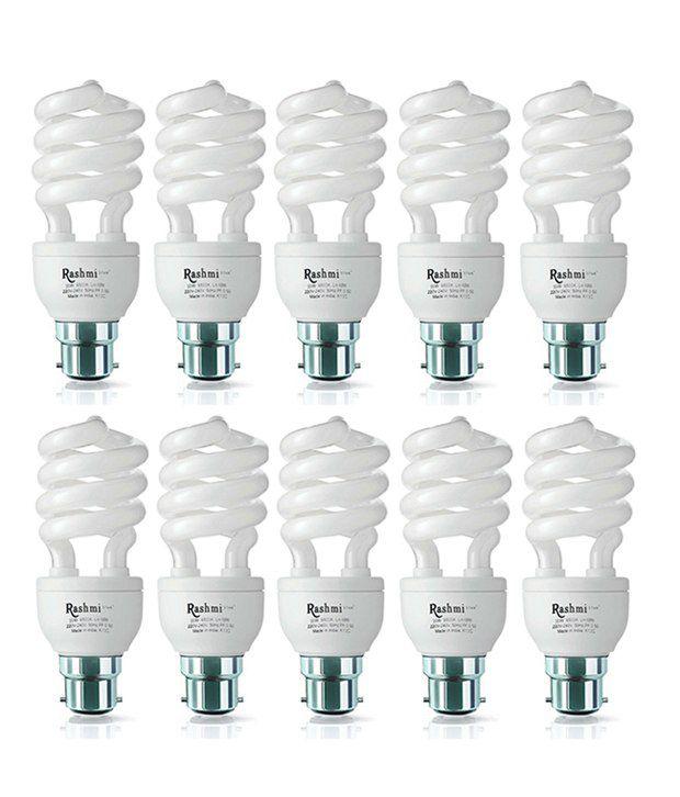 Rashmi CFL SP 20W Lamp White B22 Cap (Pack of 10)