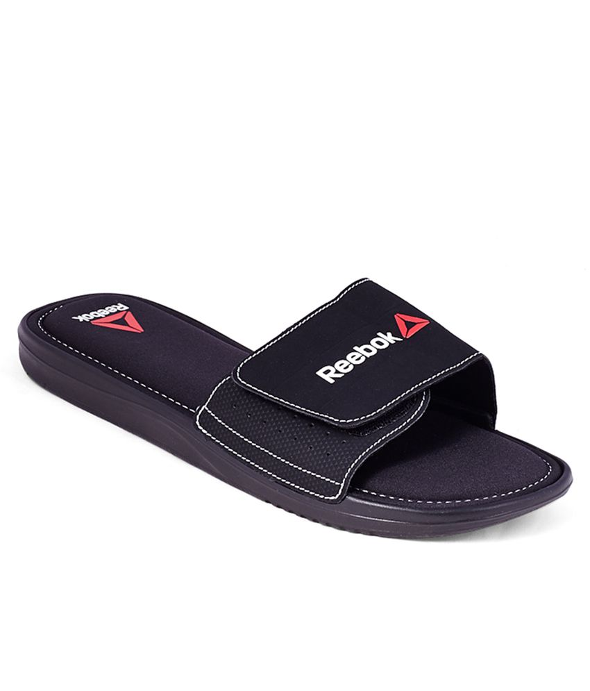 0a8d9df970a1 Reebok Comfort Slide Black Slippers Price in India- Buy Reebok Comfort  Slide Black Slippers Online at Snapdeal