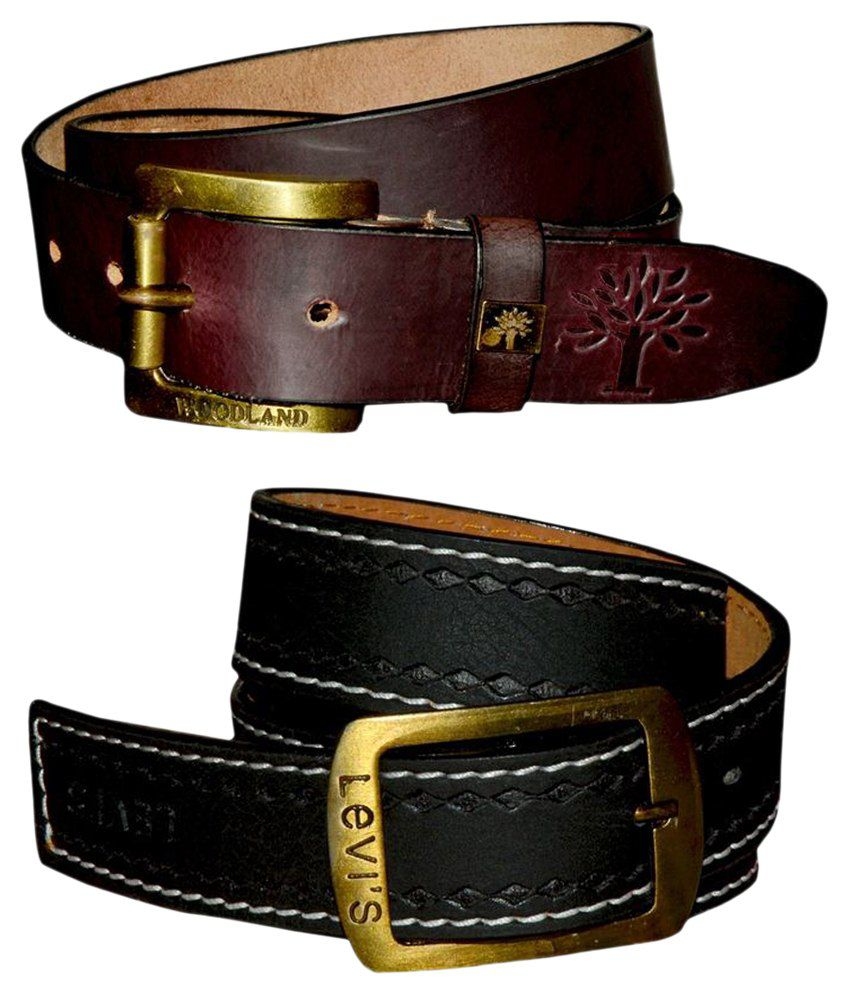 Virgo Combo of 2 Reversible Black Leather Belts