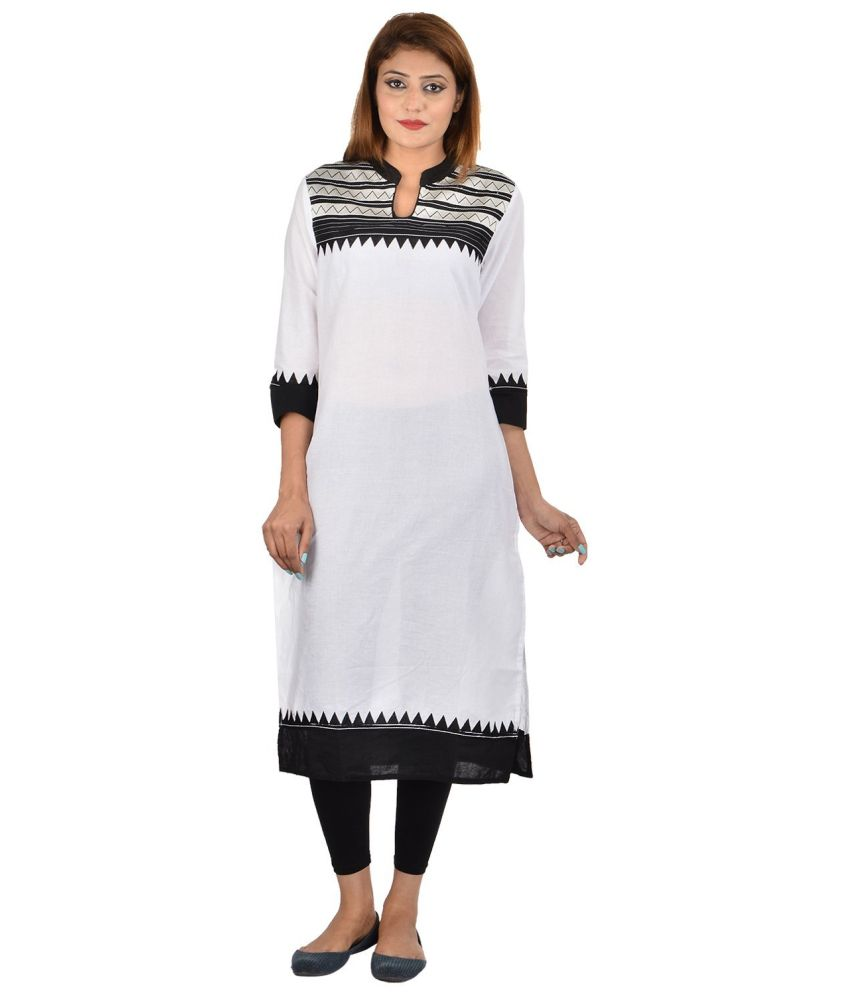 Diva GhostWhite Cotton Kurti