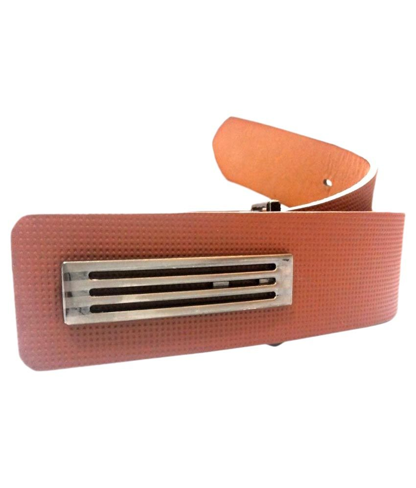 Mode Brown Leather Autolock Buckle Belt for Men